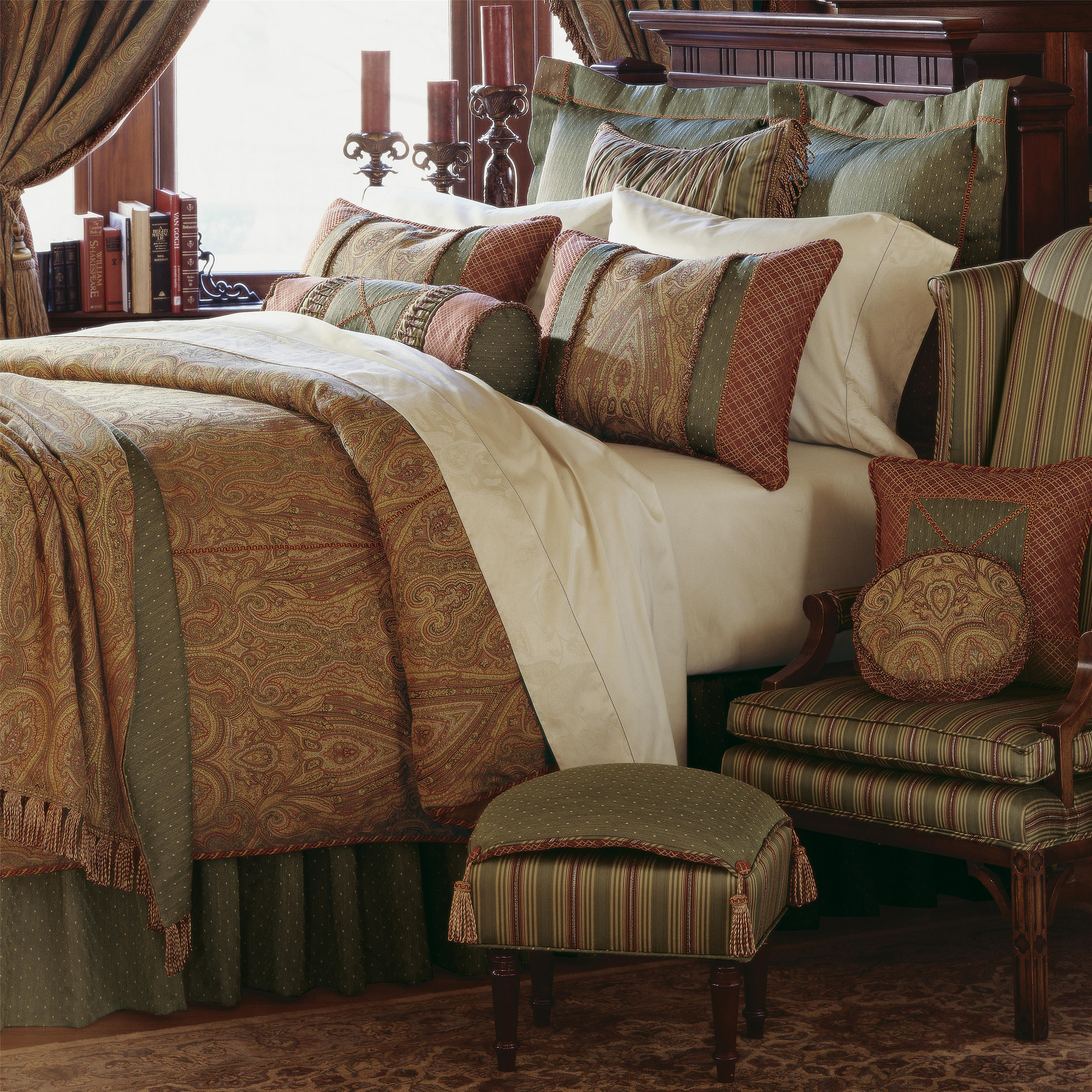 Glenwood Full Button-Tufted Comforter by Eastern Accents at Alison Craig Home Furnishings