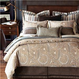 Eastern Accents Powell Cal King Button-Tufted Comforter