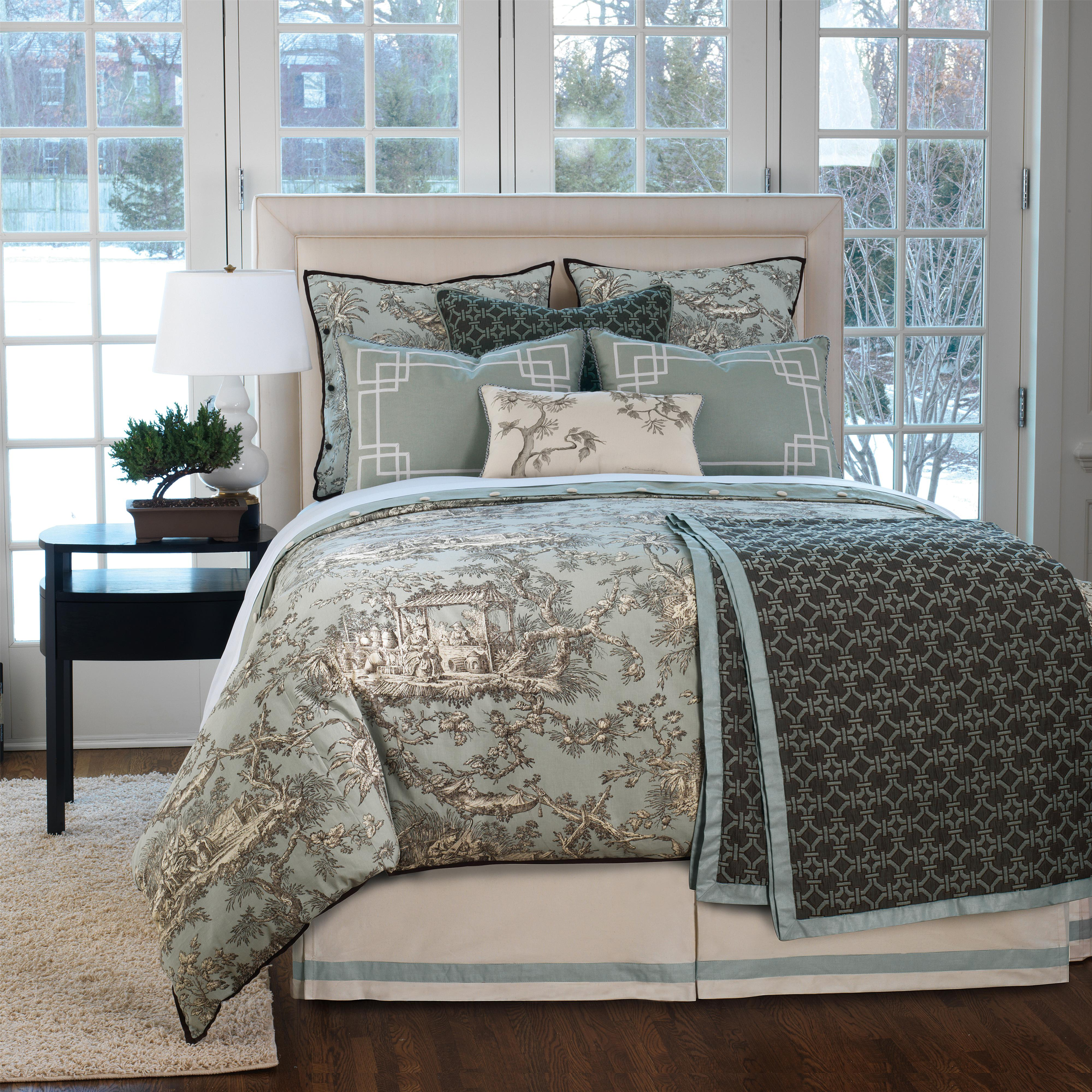 Vera Queen Button-Tufted Comforter by Eastern Accents at Jacksonville Furniture Mart
