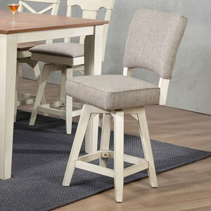 Counter Height Parsons Swivel Stool