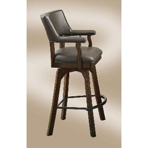 Champion Deluxe Swivel Barstool with Upholstered Seat and Back