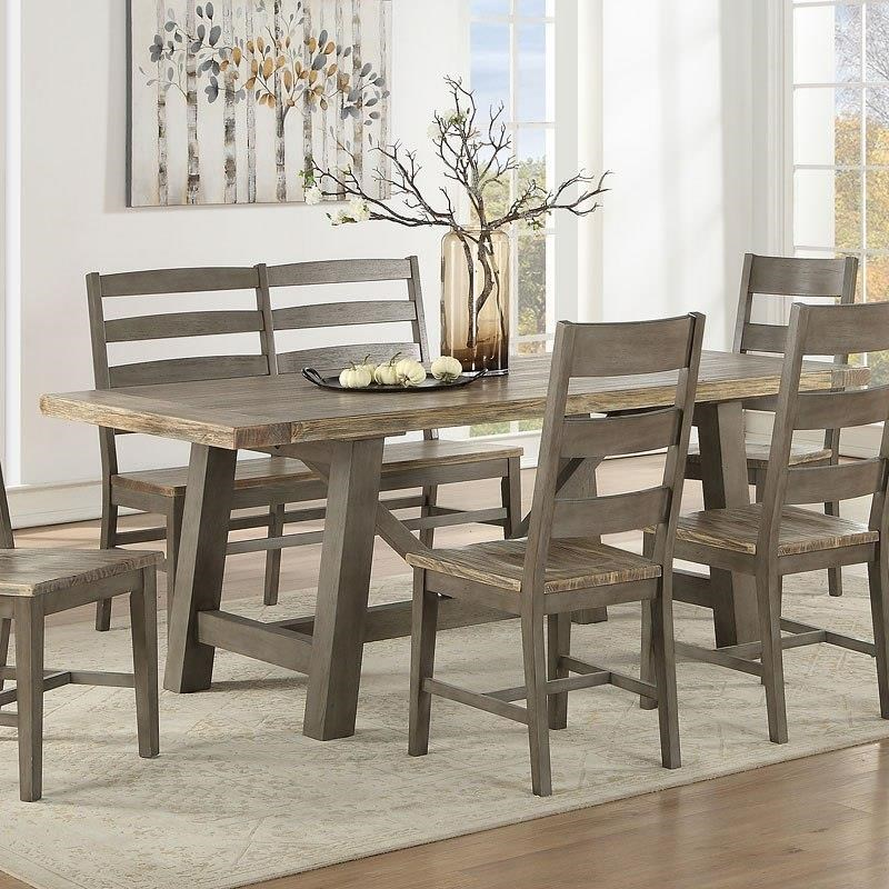 Bars Trestle Table by E.C.I. Furniture at Johnny Janosik