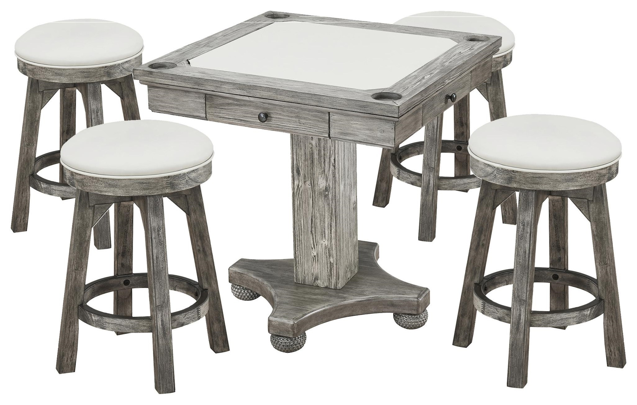 Bars Flip Top Game Table and Stools by E.C.I. Furniture at Johnny Janosik