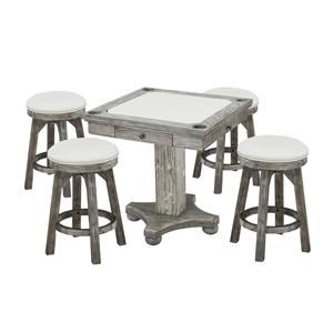 Flip Top Game Table and Stools