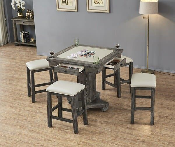 Bars Square Game Table and Stools by E.C.I. Furniture at Johnny Janosik