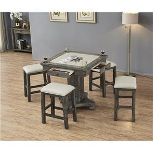 Square Game Table and Stools