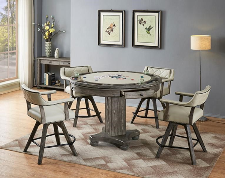 Bars Round Game Table and Stool by E.C.I. Furniture at Johnny Janosik