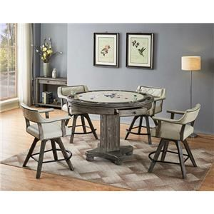 Round Game Table and Stool