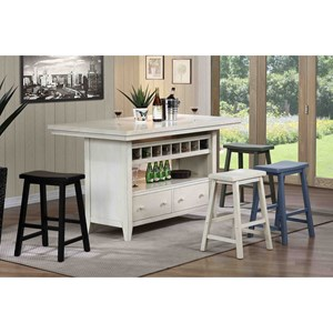 Casual Kitchen Island Group