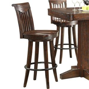 Counter Height Swivel Bar Stool w/ Sculpted Seats