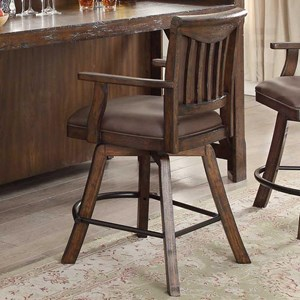 Upholstered Theater Counter Stool