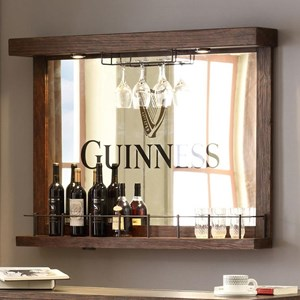 Back Bar Mirror and Stemware Holder