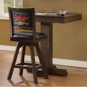 Miller High Life Square Pub Game Table with Reversible Top