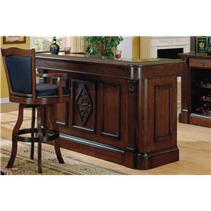 Bar with Built in Wine Rack