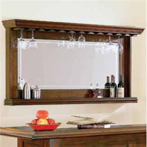 Bar Mirror with Bottle Display