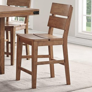 Counter Height Stool with Distressed Finish
