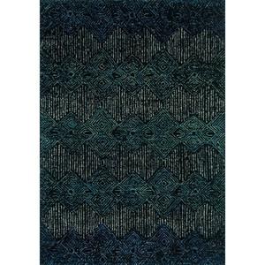 """5'-0"""" x 7'-6"""" Indigo 100% Wool Rug"""