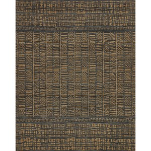 "7'-9"" x 9'-9"" Ink / Camel Wool 