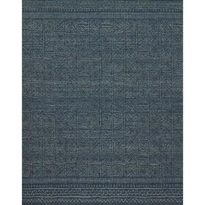 "2'-6"" x 9'-9"" Indigo Wool | Polyester Rug"