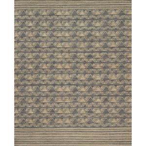 "7'-9"" x 9'-9"" Charcoal / Natural Wool 