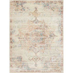 "7'-10"" X 10'-6"" Ivory / Red 100% Viscose Rug"