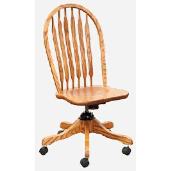 Angola Angola Desk Chair (Side) by E&I Woodworking at Mueller Furniture