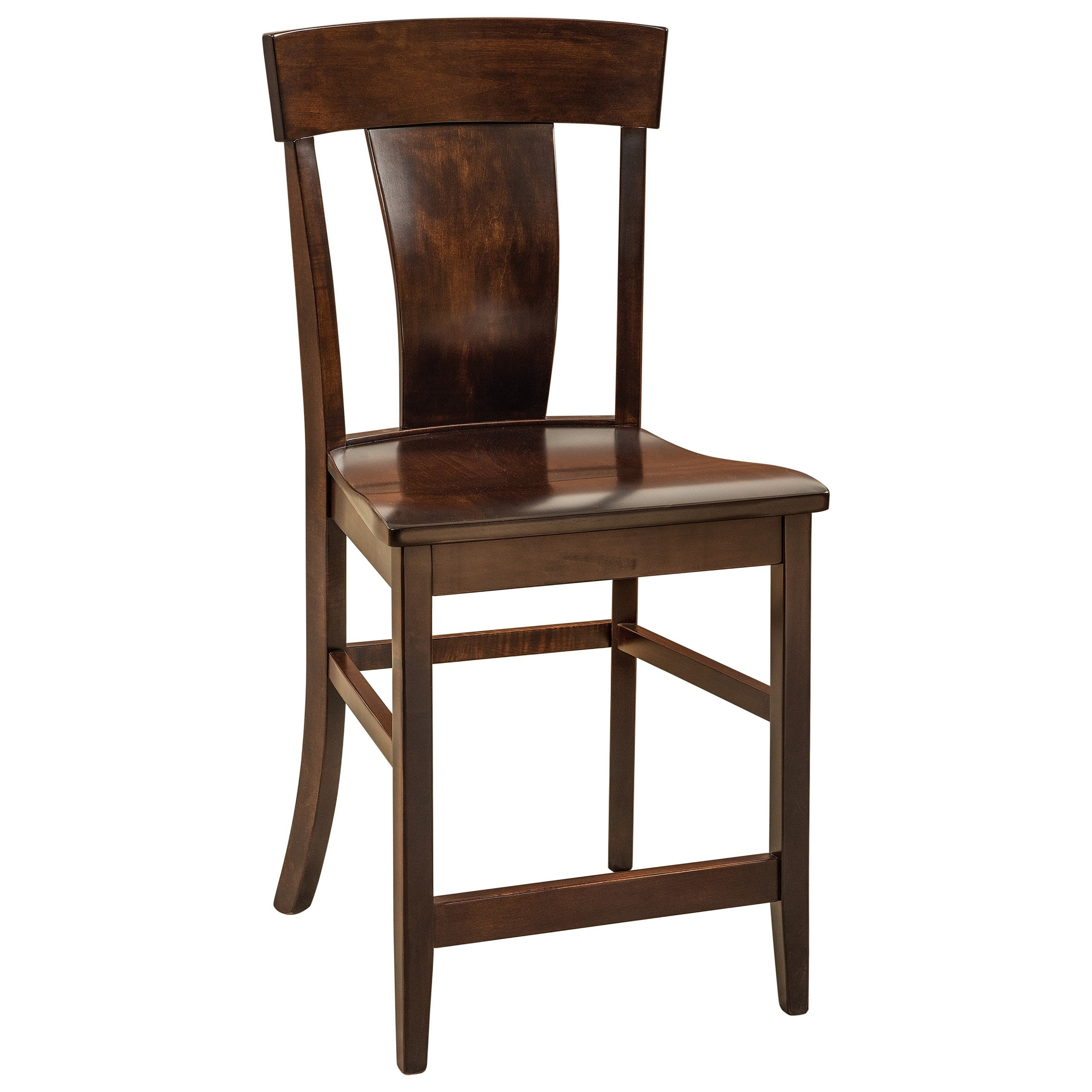 Baldwin Stationary Counter Height Stool - Leather Se by F&N Woodworking at Mueller Furniture