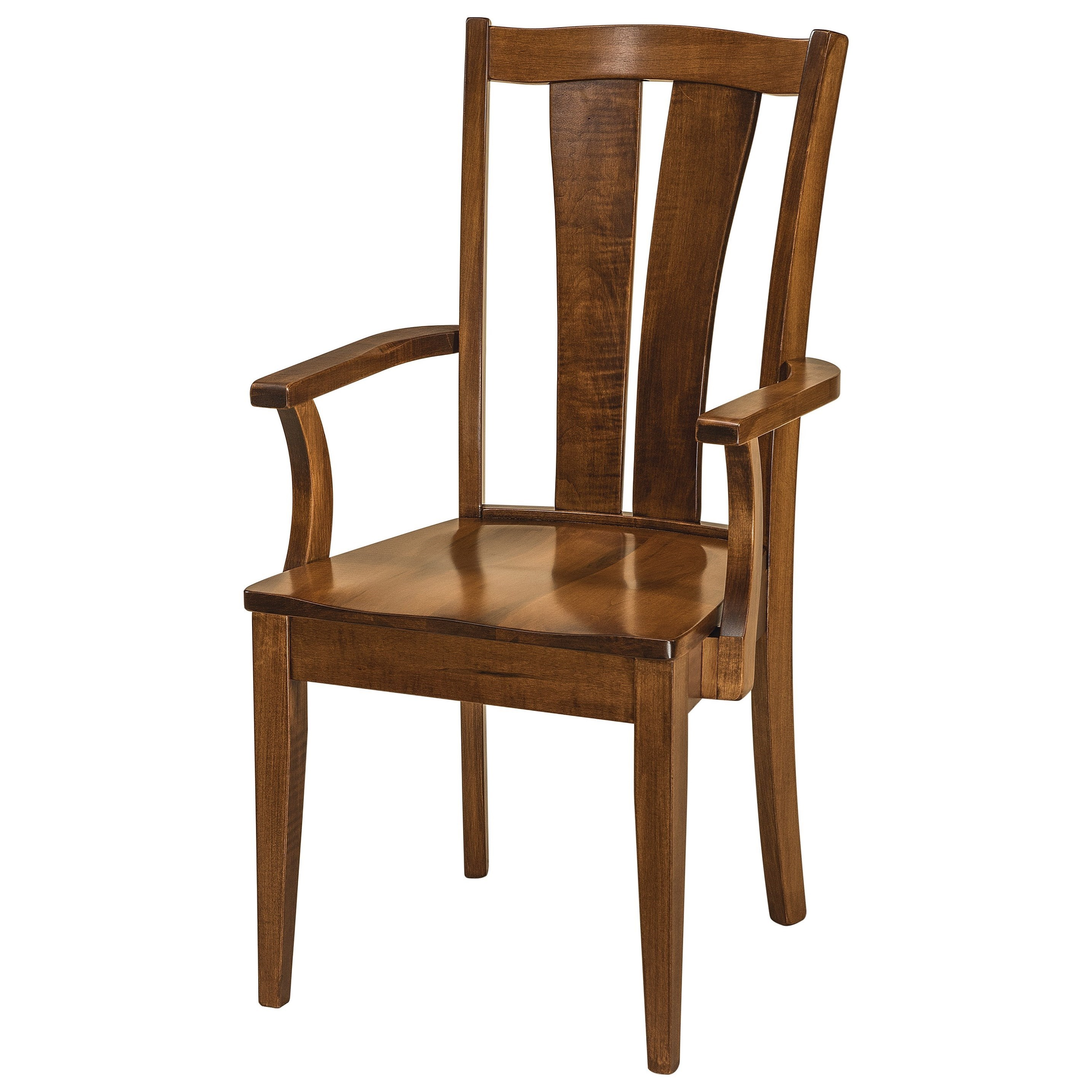Brawley Arm Chair - Wood Seat by F&N Woodworking at Mueller Furniture