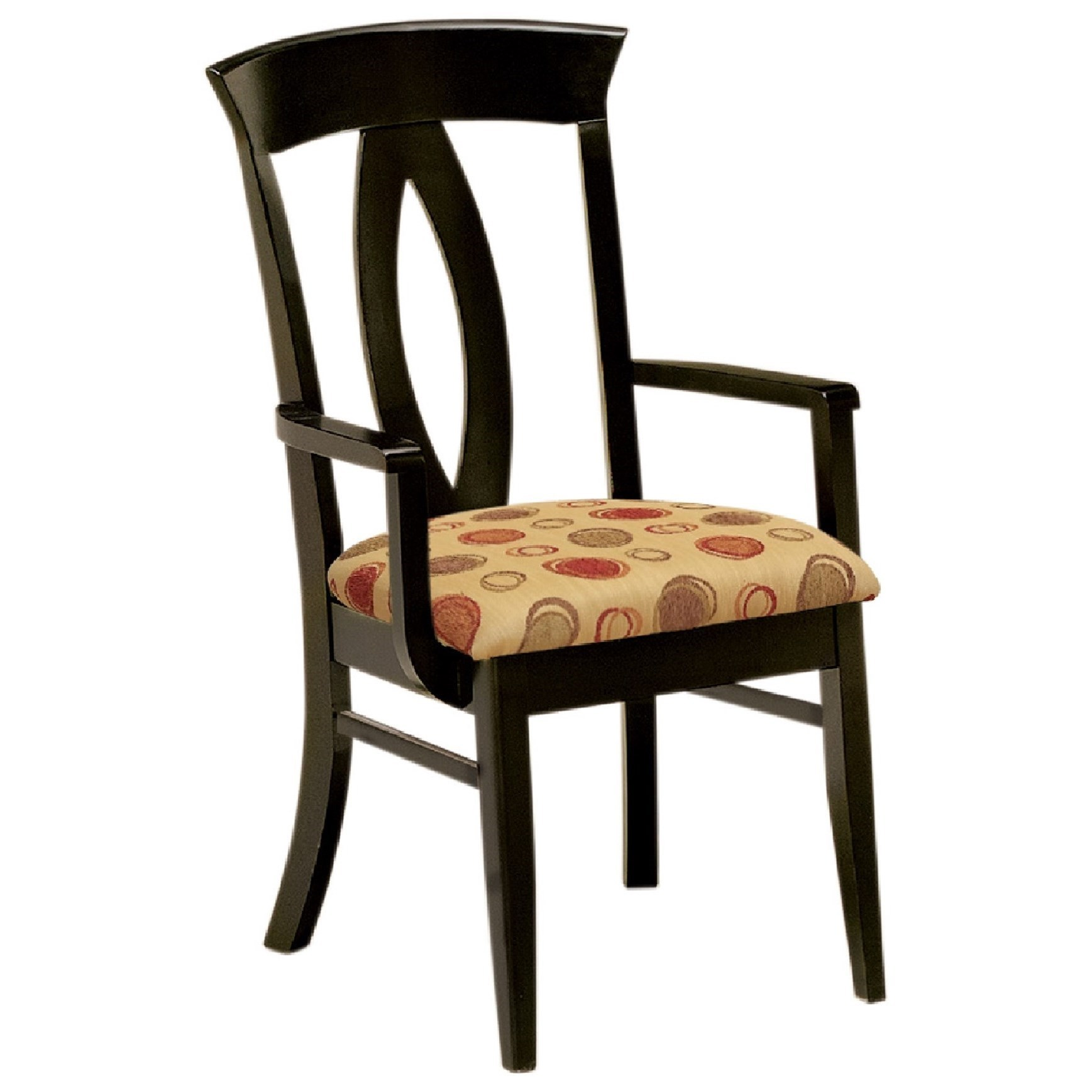 Brookfield Arm Chair - Wood Seat by F&N Woodworking at Mueller Furniture