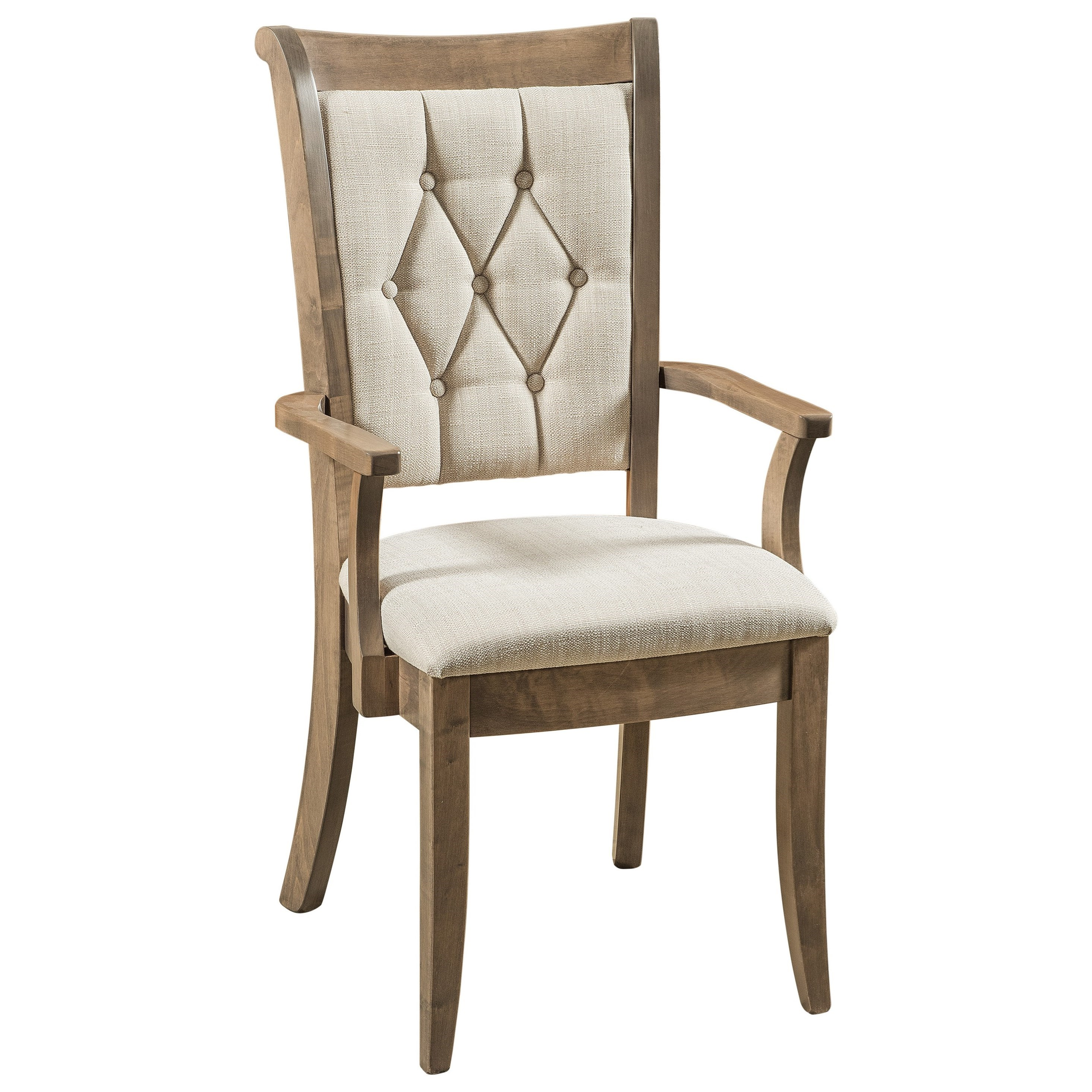 Chelsea Arm Chair - Fabric Seat by F&N Woodworking at Mueller Furniture