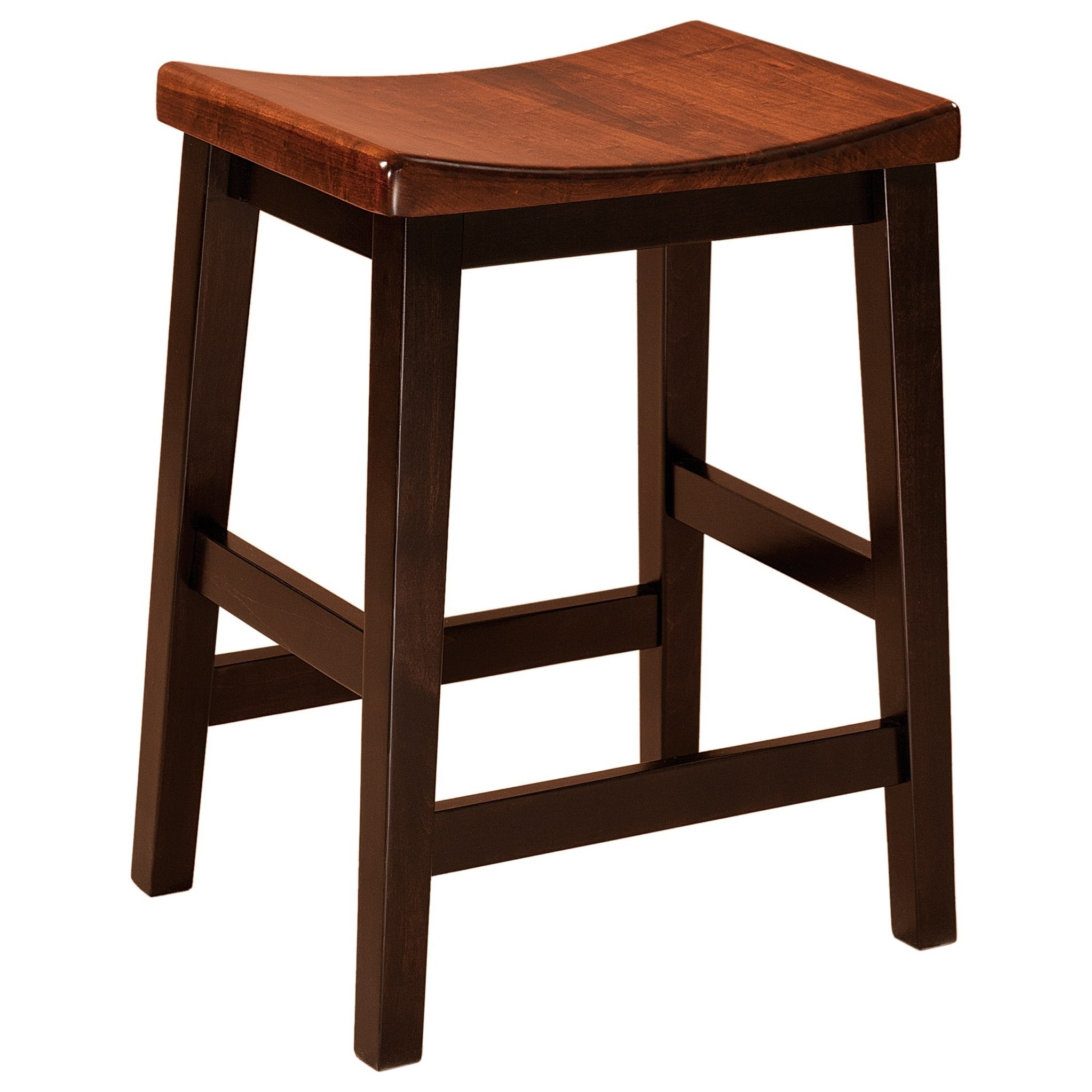"""Coby Bar Stool 30"""" Height - Leather Seat by F&N Woodworking at Wayside Furniture"""