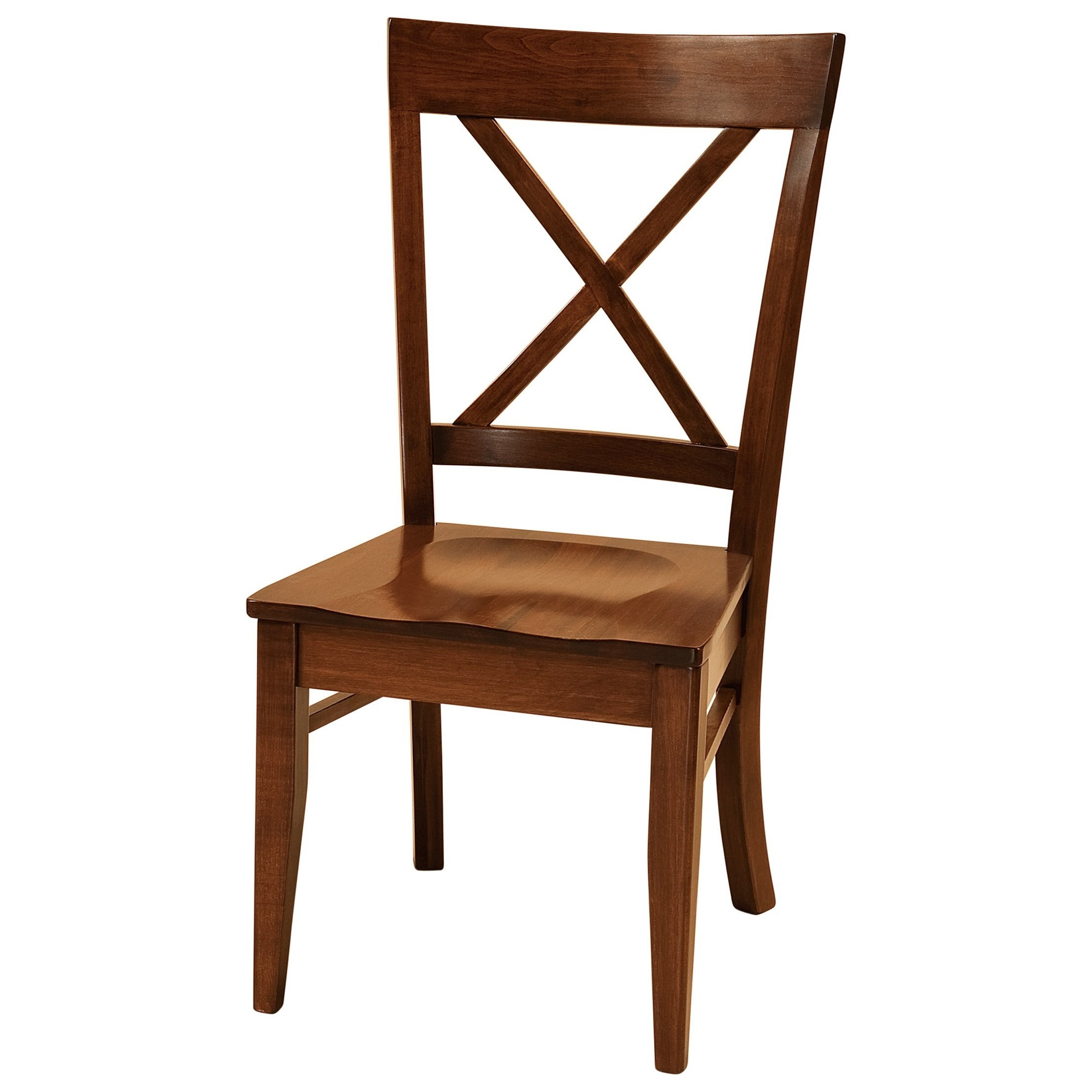 Frontier Side Chair - Fabric Seat by F&N Woodworking at Mueller Furniture