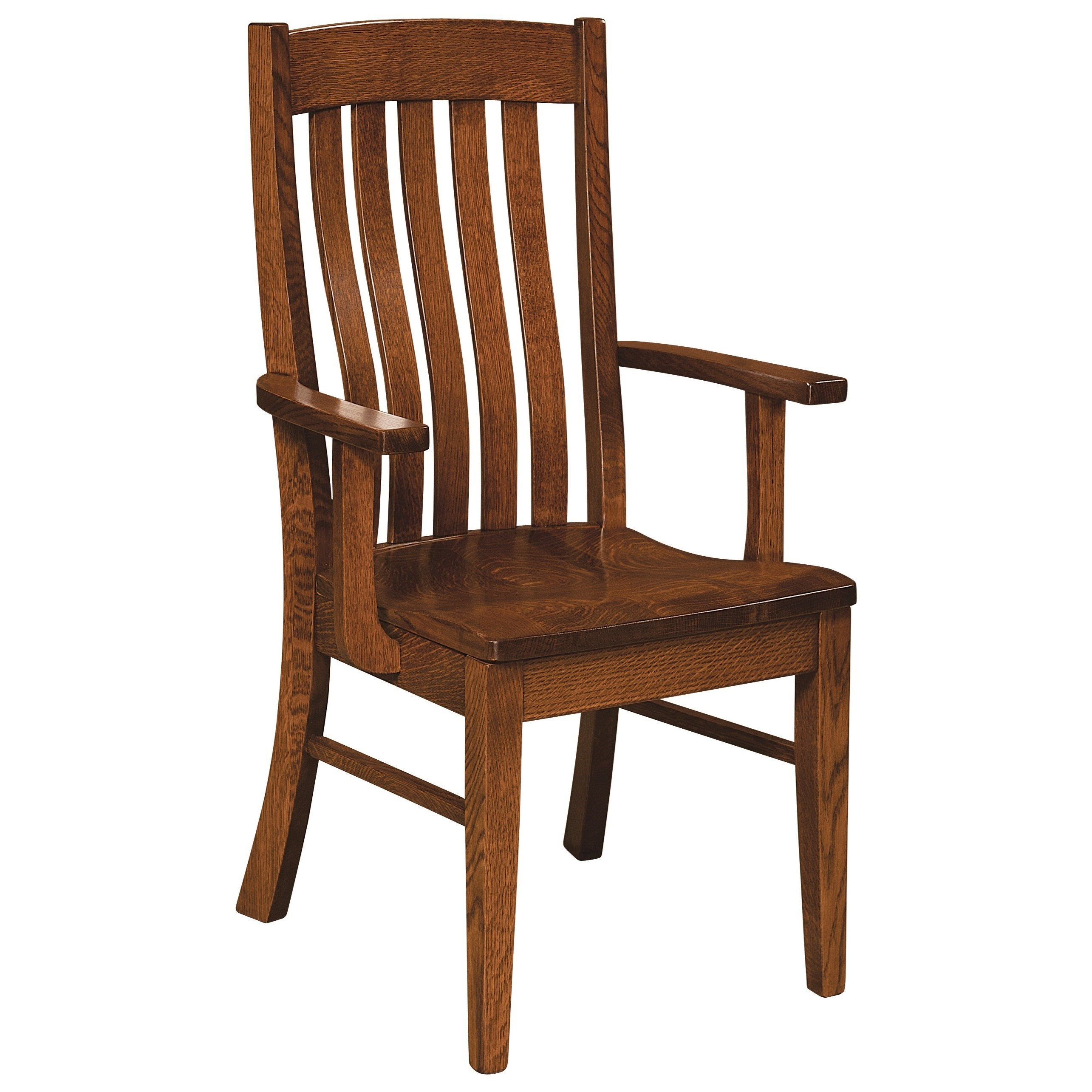 Houghton Arm Chair - Leather Seat by F&N Woodworking at Mueller Furniture
