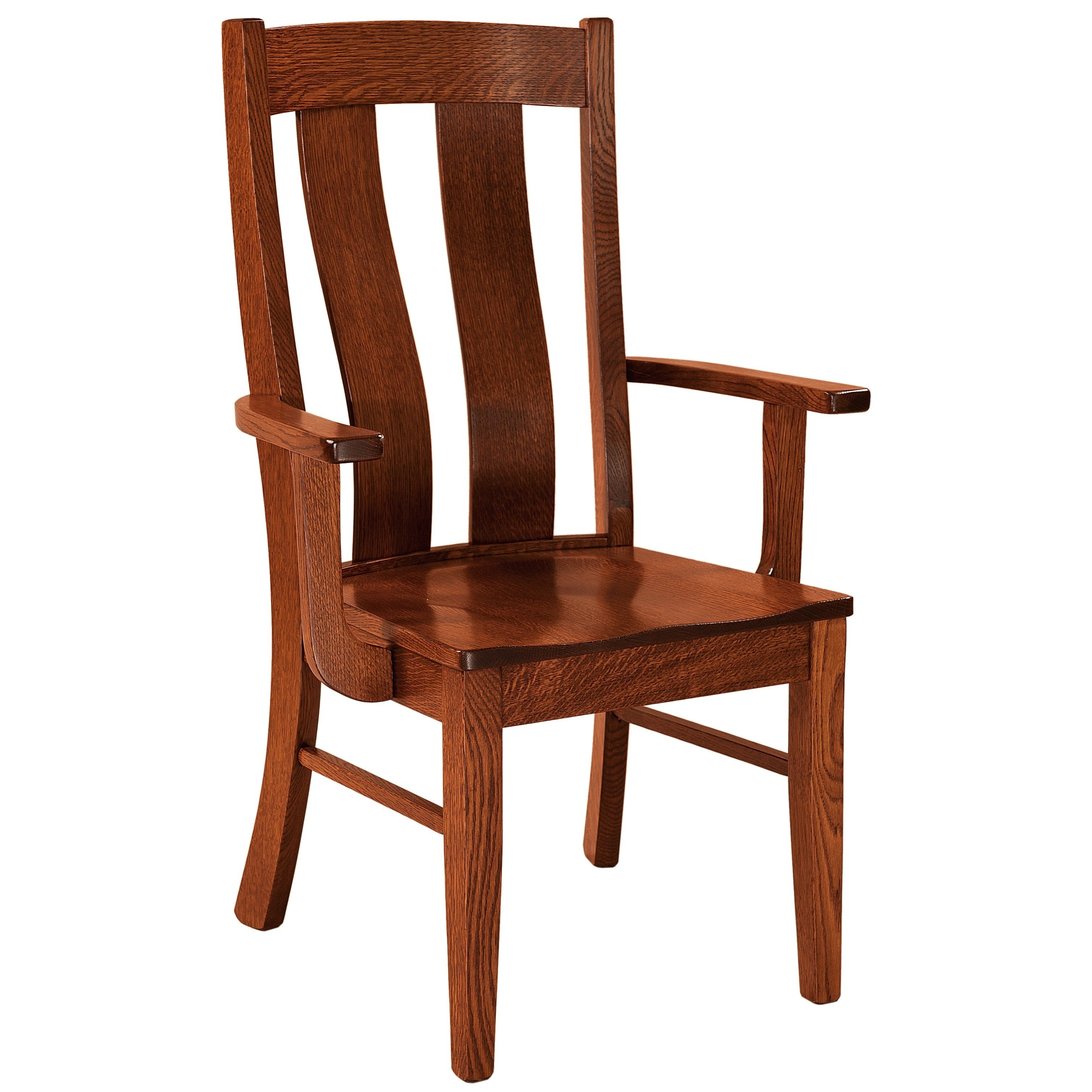Laurie Arm Chair - Wood Seat by F&N Woodworking at Mueller Furniture