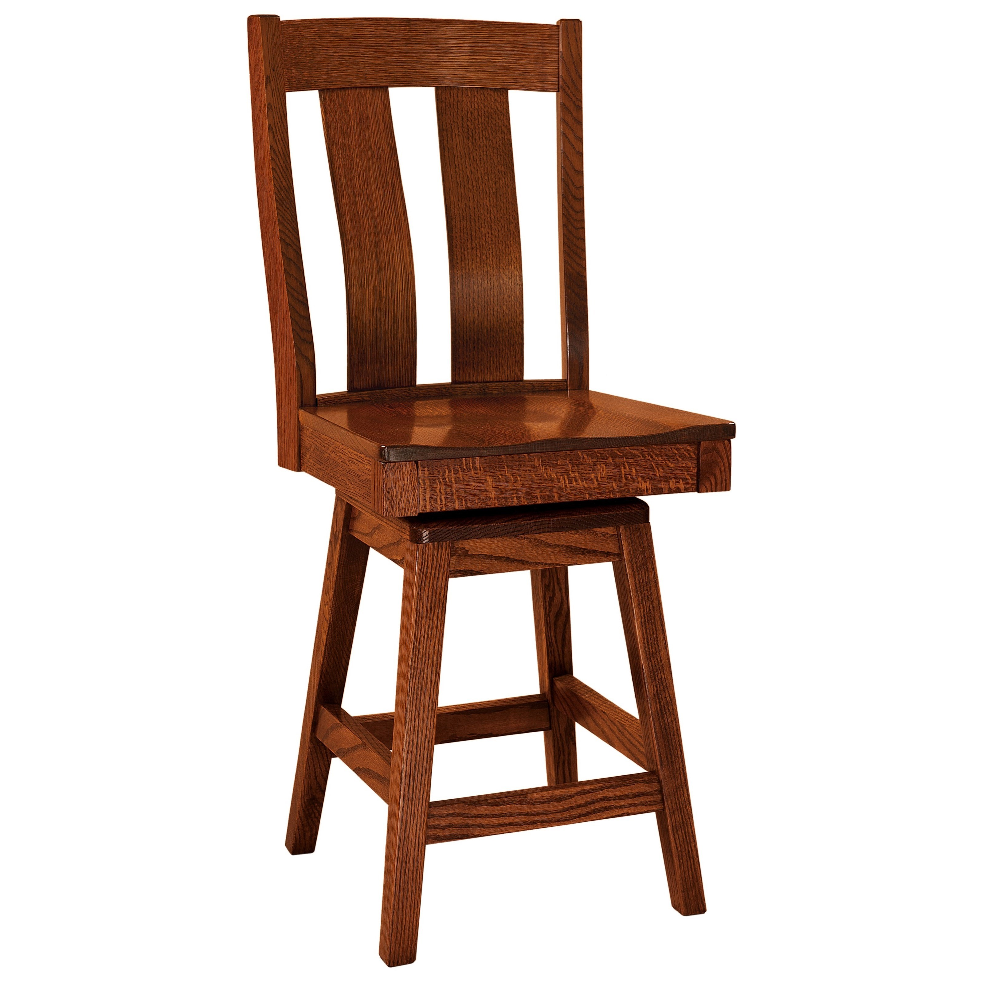 Laurie Swivel Counter Height Stool - Wood Seat by F&N Woodworking at Mueller Furniture