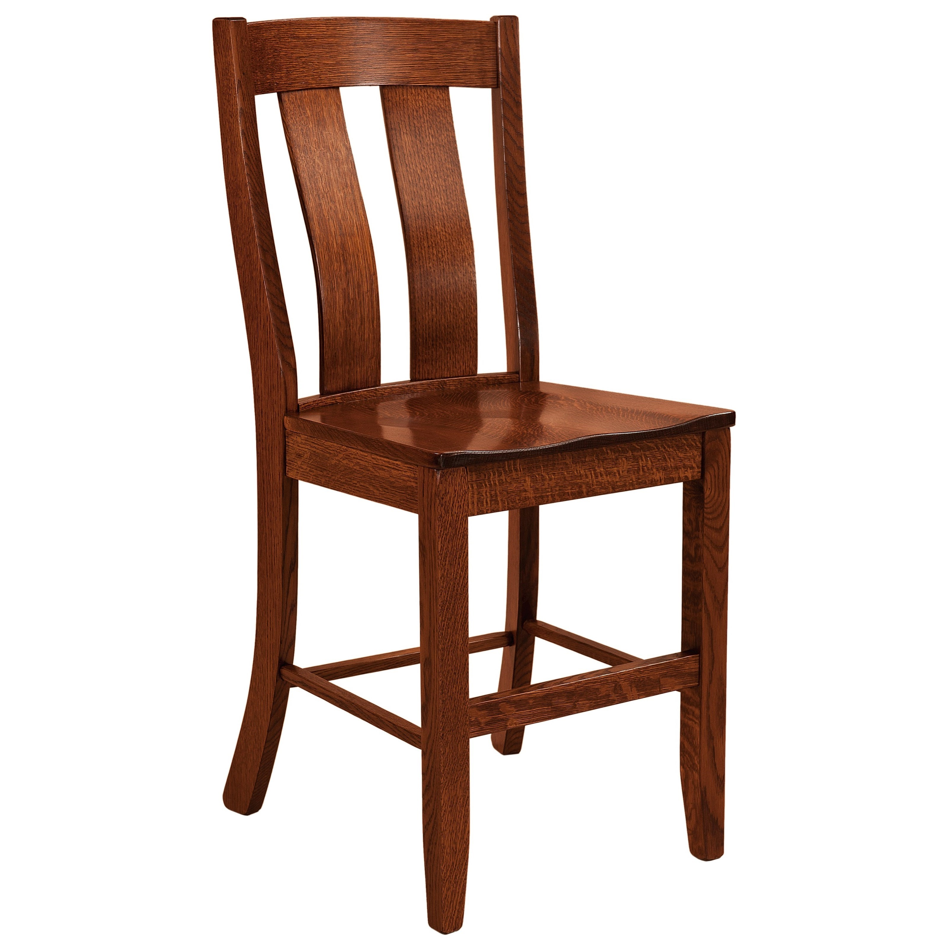 Laurie Stationary Bar Stool - Leather Seat by F&N Woodworking at Mueller Furniture
