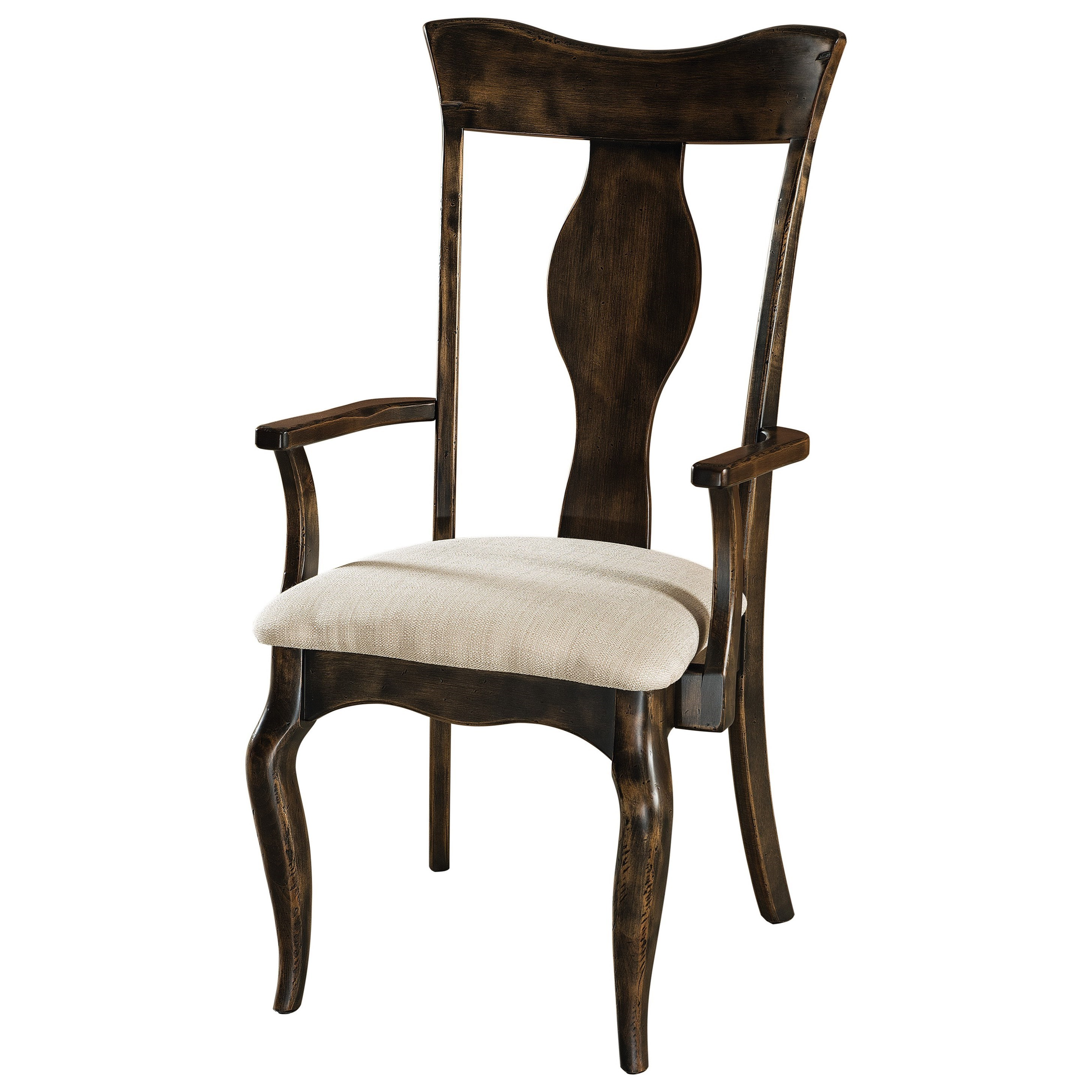 Richland Arm Chair - Leather Seat by F&N Woodworking at Mueller Furniture