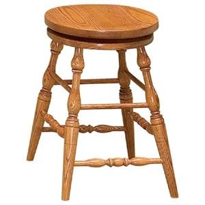 "24"" Height Swivel Bar Stool - Wood Seat"