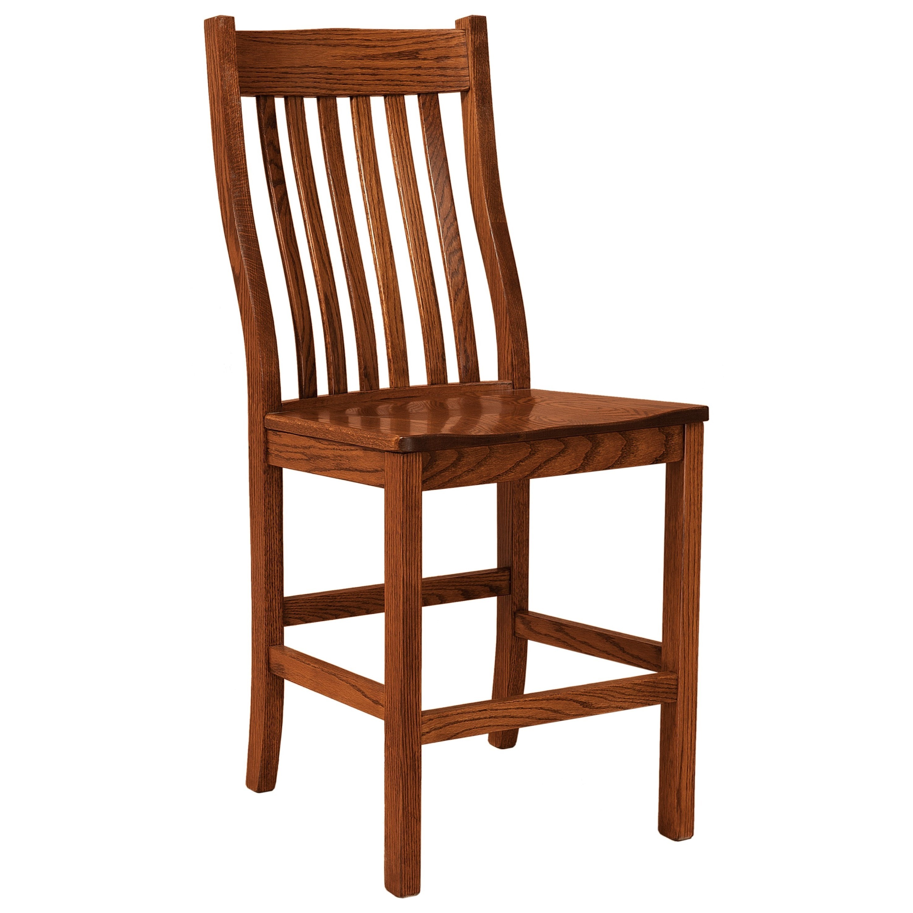 Sullivan Stationary Counter Height Stool - Wood Seat by F&N Woodworking at Wayside Furniture