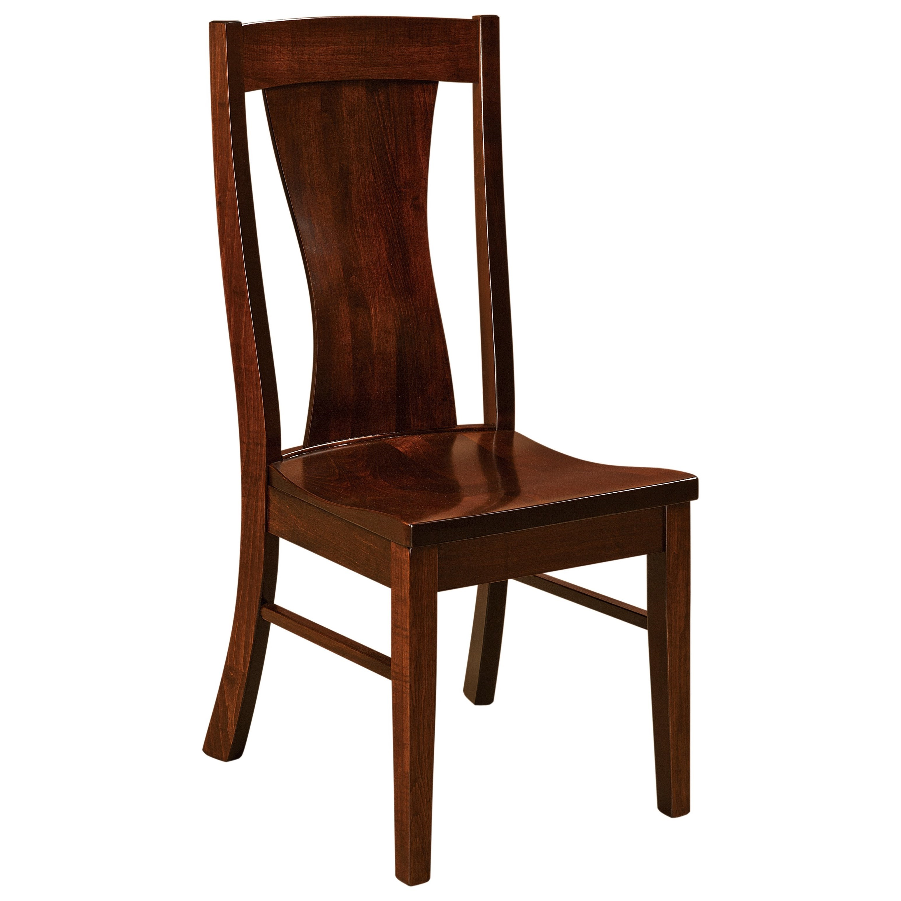 Westin Side Chair - Leather Seat by F&N Woodworking at Mueller Furniture