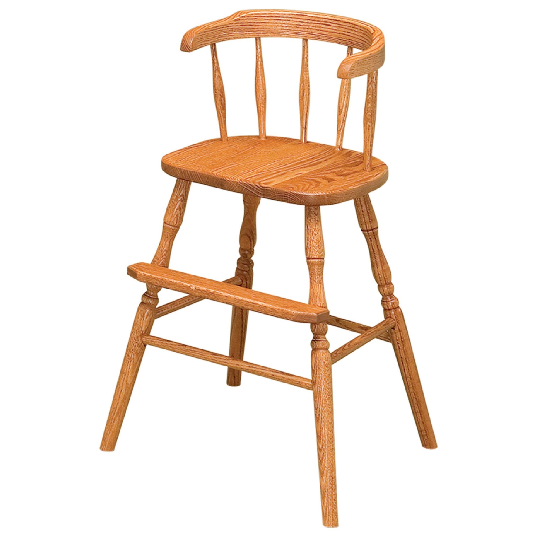Wrap Around Youth Stationary Bar Stool - Wood Seat by F&N Woodworking at Mueller Furniture