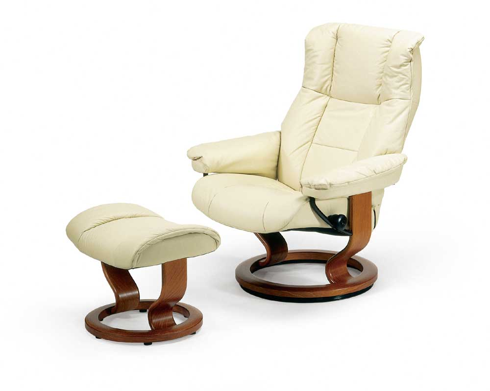 Mayfair Medium Chair & Ottoman with Classic Base by Stressless at Jordan's Home Furnishings