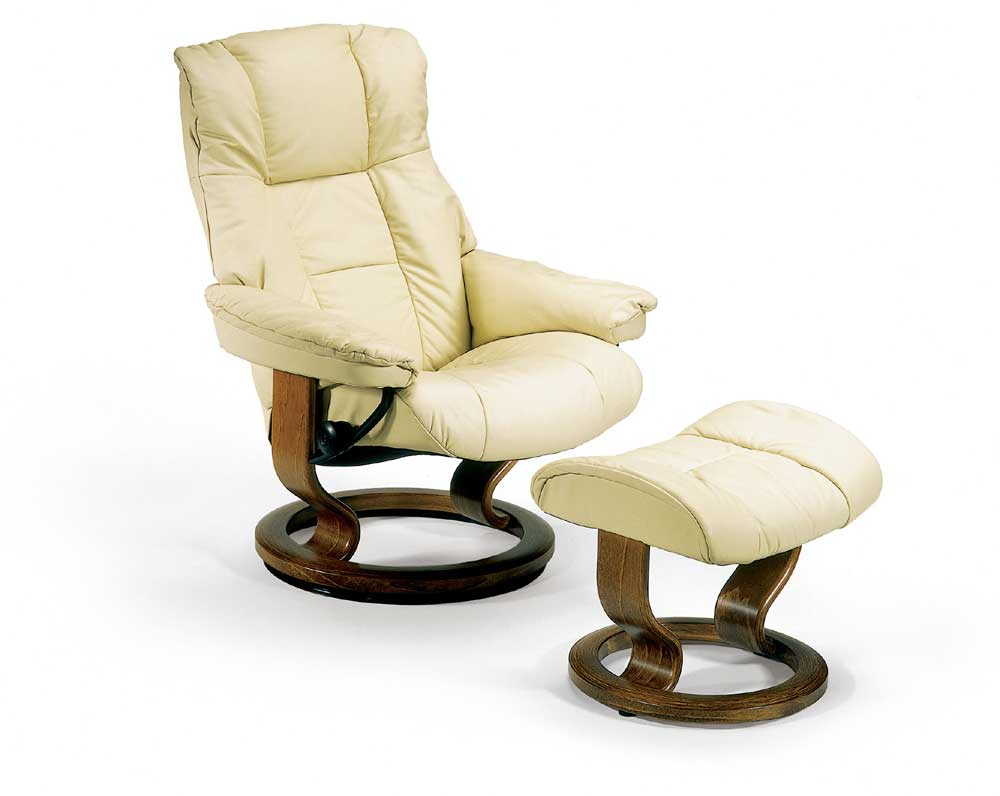 Mayfair Small Chair & Ottoman with Classic Base by Stressless at Virginia Furniture Market