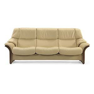 High-Back 3-Seater Reclining Sofa with Arms