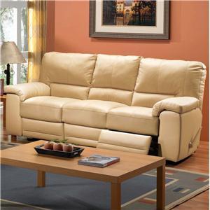 Casual Three Seat Reclining Sofa