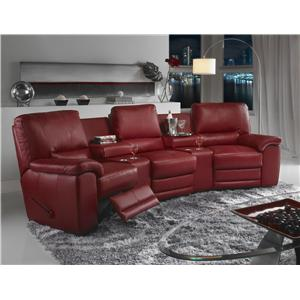 Casual Contemporary Theater Sectional Seating