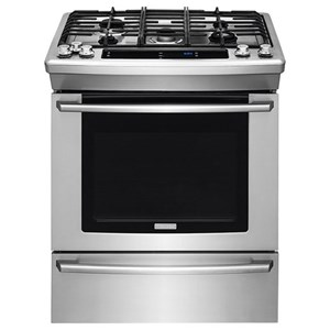 """Electrolux Dual Fuel Ranges 30"""" Dual-Fuel Built-In Range with Wave-Touch"""