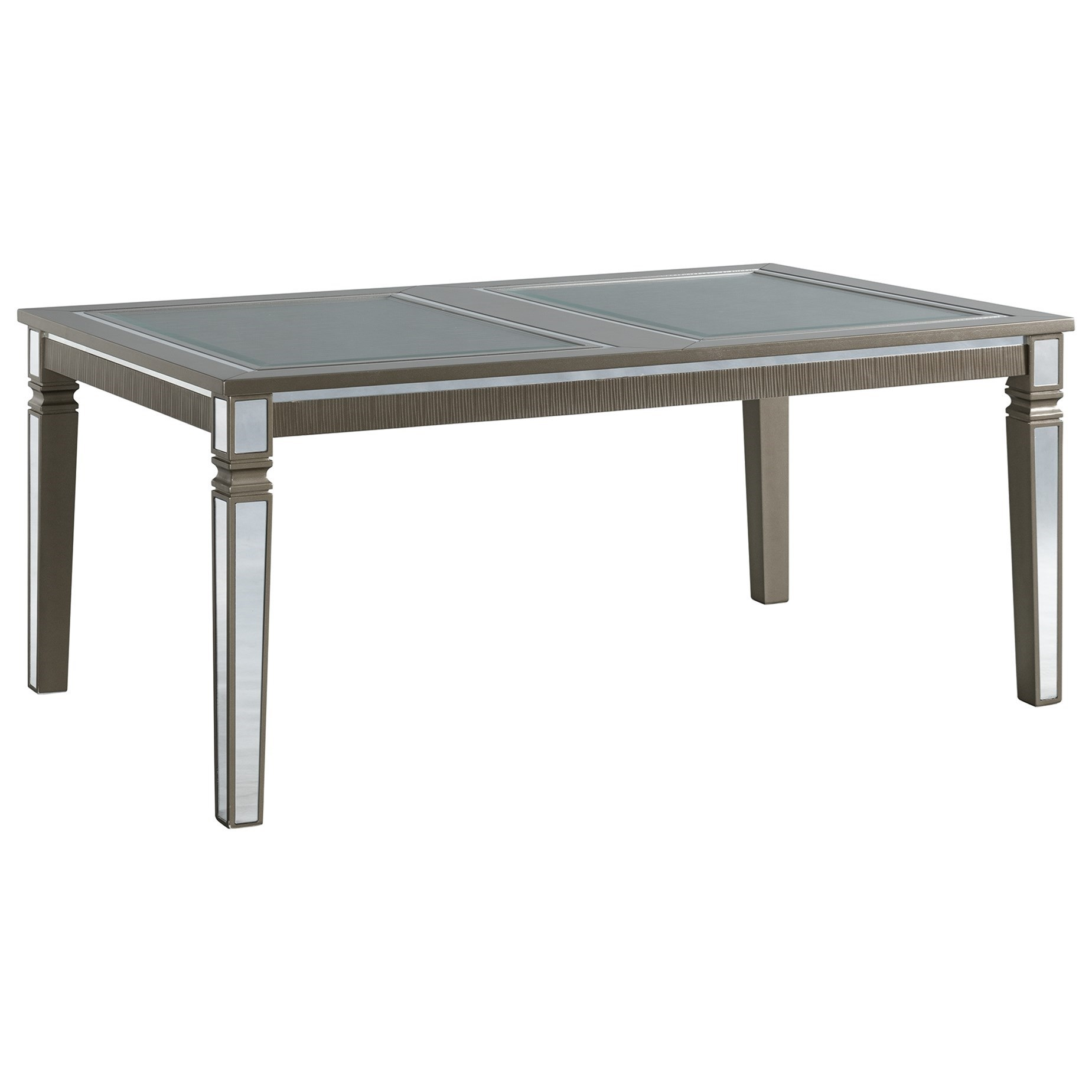 14.5 Standard Height Rectangle Dining Table by Elements International at Lindy's Furniture Company