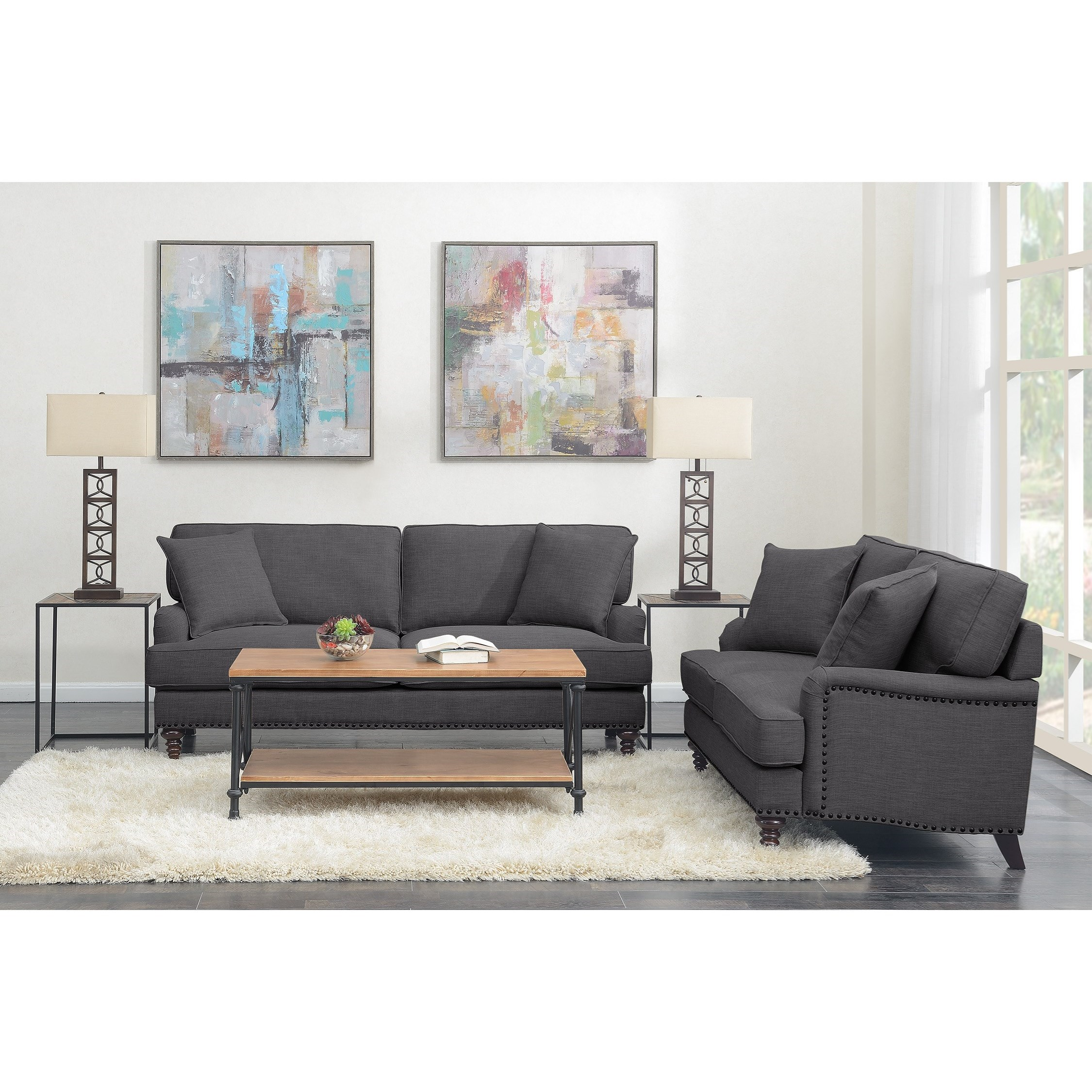 Abby 2PC Set-Sofa & Loveseat by Elements International at Lynn's Furniture & Mattress