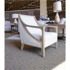 Hopkins Natural Accent Chair with White Washed Wood